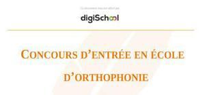 Concours d'admission en école d'orthophonie : épreuve de synthèse