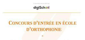 Concours d'admission en école d'orthophonie : épreuve de culture générale