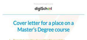 Cover letter sample Master's degree