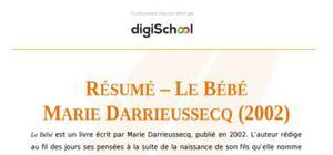 """Résumé – """"Le bébé"""" de Marie Darrieussecq"""