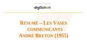 """Résumé – """"Les Vases communicants"""" de André Breton"""