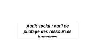 audit social dans les entreprise