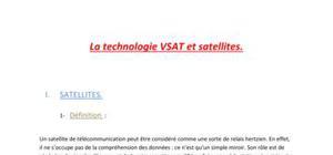 La Technologie VSAT