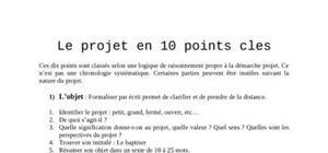 Le projet en 10 points cles