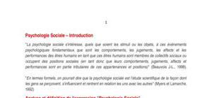 cour psychologie social
