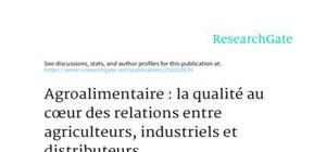 la qualité au coeur des relations entre agriculteurs, industriels et distributeurs
