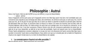 Cours de Philosophie : Autrui
