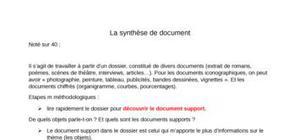 La synthèse de document méthodologie