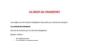 Droit du transport