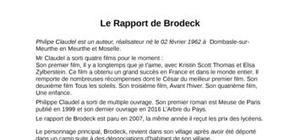 Fiche de lecture sur le rapport de Brodeck de Phillipe Claudel