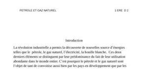 Pétrole et gaz naturel