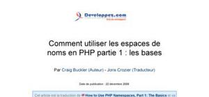 Introduction aux namespaces en php