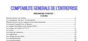 comptabilité générale resume