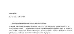 introductions à la fiscalité marocaine
