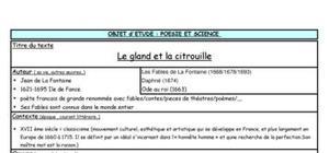 Le gland et la citrouille - La Fontaine