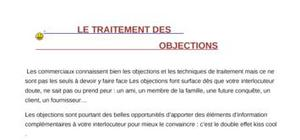 Le traitements des  objections