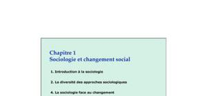 sociologie de changement