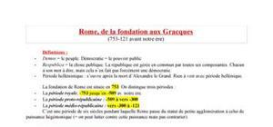 Histoire antique (Rome) Introduction