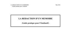 Redaction mémoire online