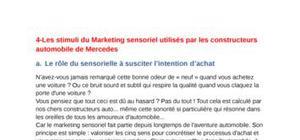 cours marketing sensorielle