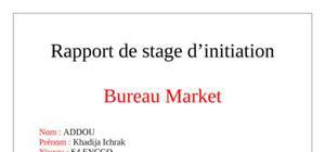 rapport de stage bureau Market
