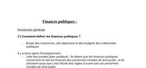 L'évolution des finances publiques en France