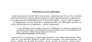 Les Médidations Métaphysiques de René Descartes