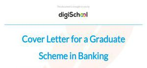 Cover letter for a Graduate Scheme in Banking
