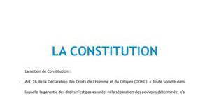 Droit : La constitution