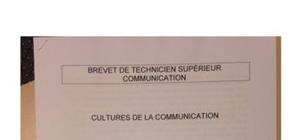 Sujet Cultures de la Communication - BTS 2016