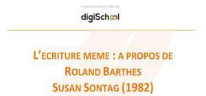 L'écriture même : A propose de Roland Barthes - Susan Sontag