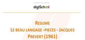 Le beau langage - Pièces - Jacques Prévert