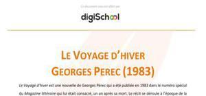 Le voyage d'hiver - Georges Perec