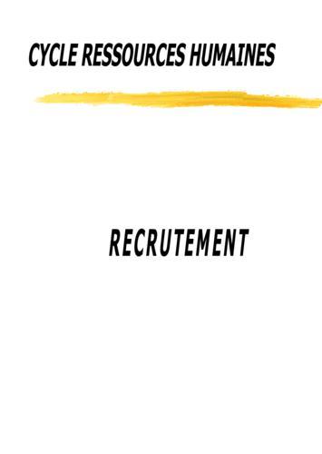 GRH : Le recrutement