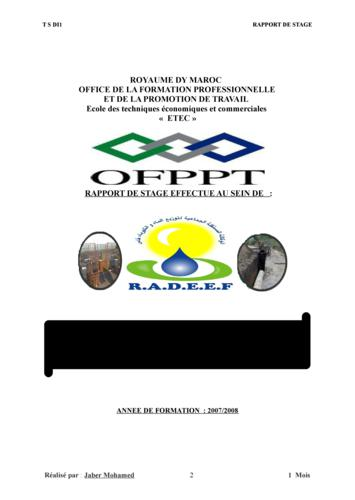 Rapport de stage en informatique