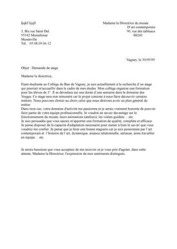 Lettre officielle demande de stage exemple | digiSchool ...