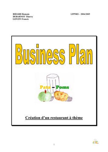 Business plan pour a restauration à theme