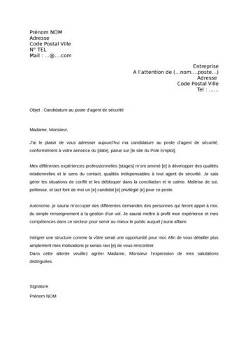 lettre de motivation premier emploi qualit u00e9