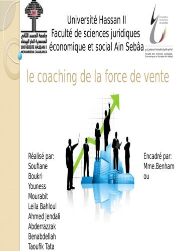 Le coaching de la force de vente