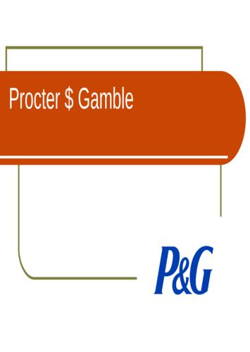 Presentation Procter and Gamble
