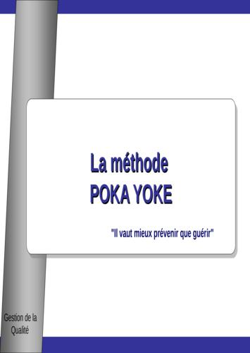 Gestion de la qualité : la méthode  poka yoke