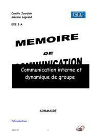 Communication interne et dynamique de groupe