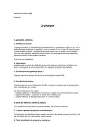 Anatomie du cou - Le Pharynx