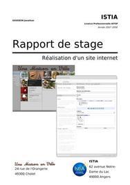 Rapport de stage - Réalisation d'un site internet
