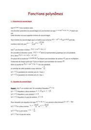 Fonction polynôme (1ère S)