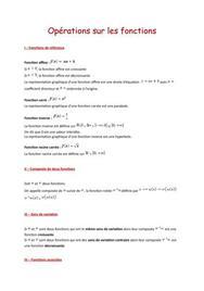 Opérations sur les fonctions (1ère S)