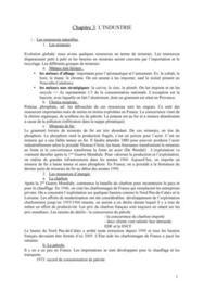 Phénomènes Economiques et Comtemporains - L'Industrie