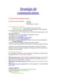 Stratégie communication