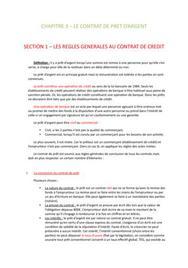 les contrats de crédit