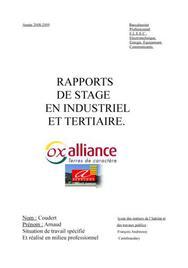 rapport de stage electrotechnique